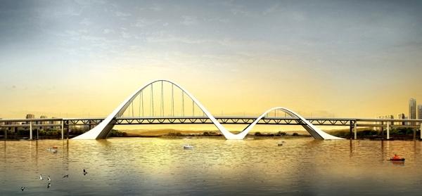 钢系杆拱桥