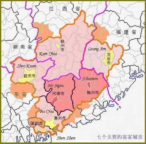 4)汀漳籍(福建省):永定县