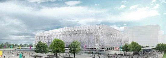 伦敦奥运篮球馆全部由临时性钢架结构建成