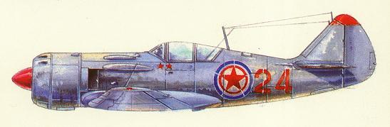 志愿军飞行员王天保驾驶拉-11飞机击落美国先进的f