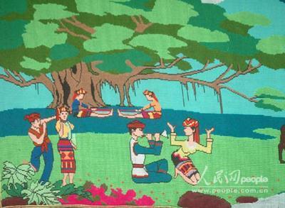 手绘海南风景
