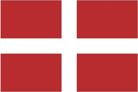 国旗是红色长方形内有一白色十字