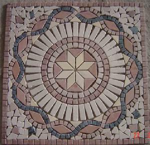 """拜占庭马赛克瓷砖的典型基督教图案如""""基督受洗於约旦河"""",""""善良的"""