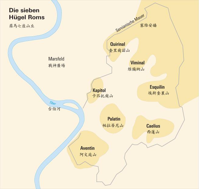 古罗马七丘(地图)