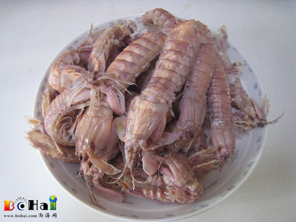 """素有""""富贵虾""""之称,在广东海鲜市场有泰国进口虾蛄,其身长达30厘米"""