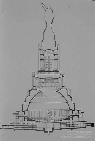 手绘宫殿背景图