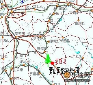 临沂交通旅游地图