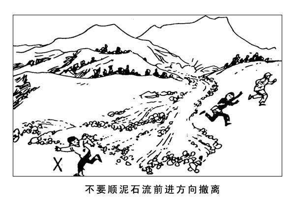 地震安全创意手绘图