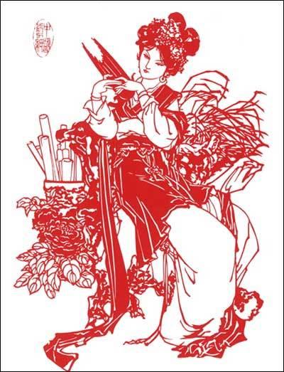 奖励小红花剪纸_康之园