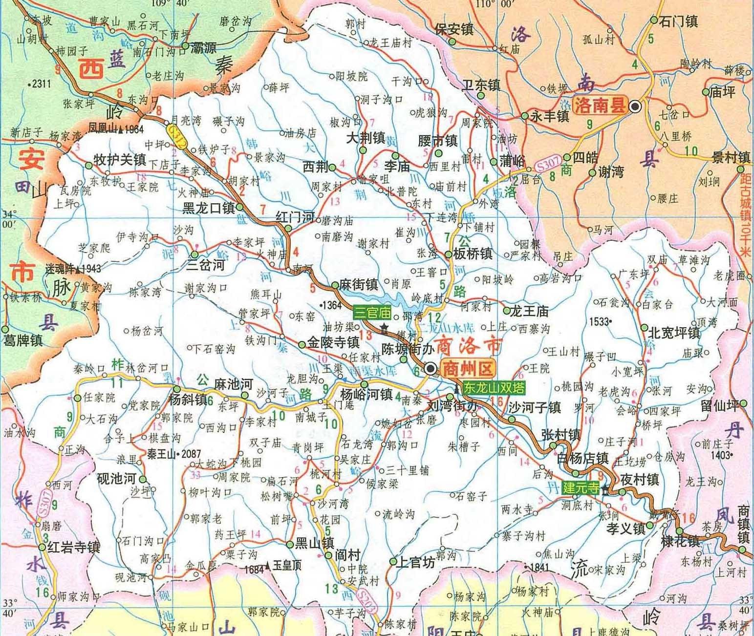 陕西省商洛市山阳县长沟镇
