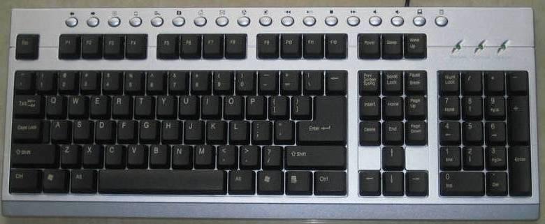 急求一张电脑键盘平面示意图 高清图片