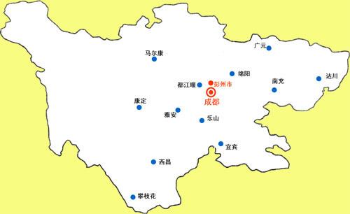四川彭州白庙镇地图