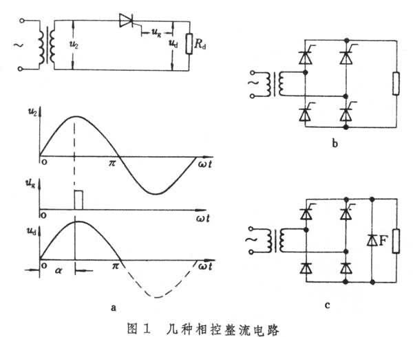 它与单相半波可控整流电路相比