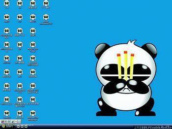 电脑桌面熊猫卡通